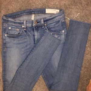 Rag & Bone high rise skinny ankle jeans
